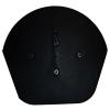 Black Half Round End Cap (2 Pack)