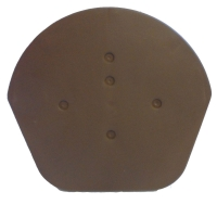 Brown Half Round End Cap (2 Pack)